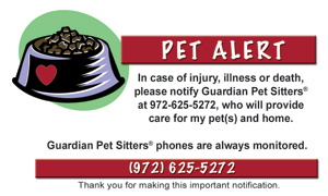 pet alert card for pet emergencies